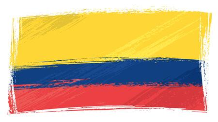 ecuador: Ecuador nationale vlag gemaakt in grunge stijl
