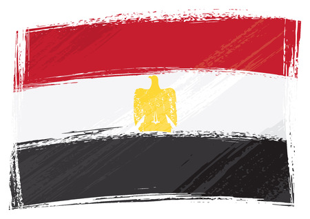 Egypt national flag created in grunge style Stock Vector - 5880681