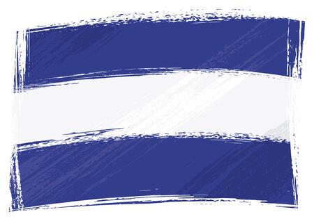 el salvadoran: El Salvador national flag created in grunge style
