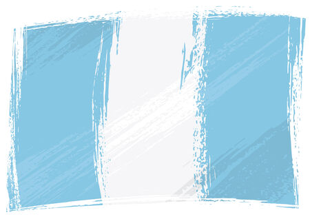 Guatemala national flag created in grunge style   Vector