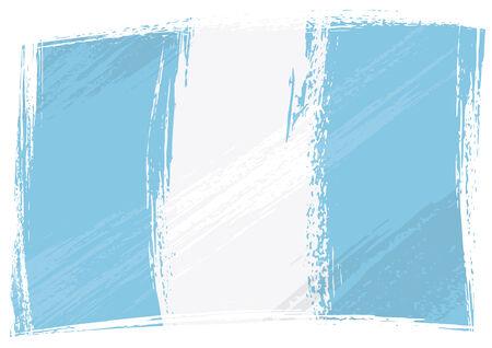 guatemala: Guatemala national flag created in grunge style