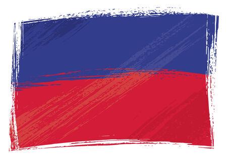 haiti: Haiti national flag created in grunge style