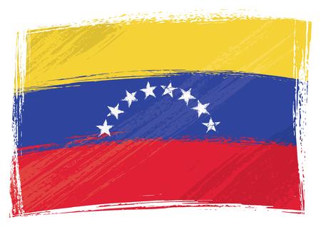 venezuela: Venezuela national flag created in grunge style