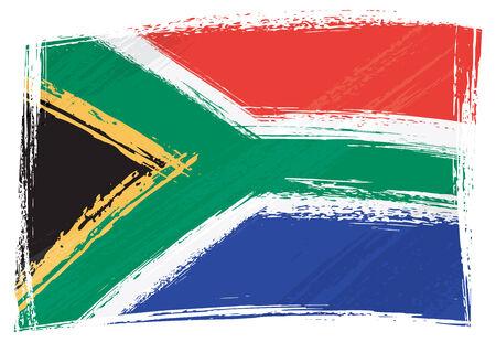 �south: Bandiera nazionale sudafricana creato in stile grunge