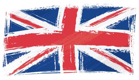 bandera reino unido: Bandera del Reino Unido de grunge Vectores