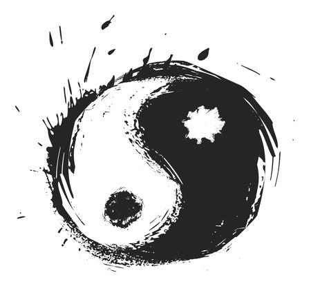 Artistic yin-yang symbol Vector