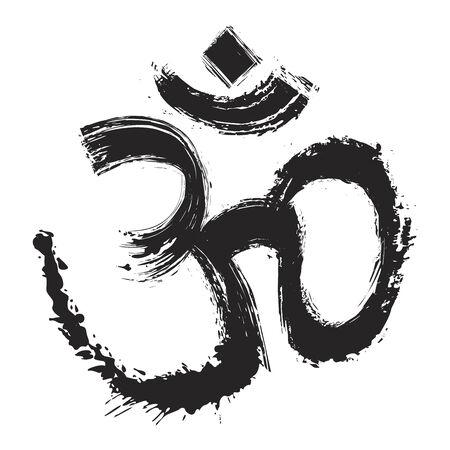 om symbol: Artistic om symbol