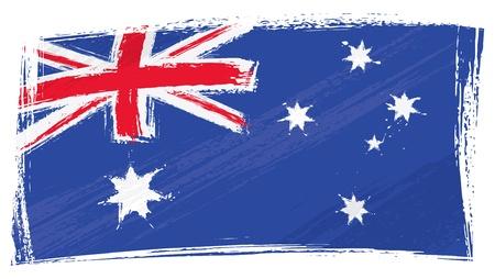 Grunge Australia flag Vector Illustration