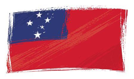 samoa: Grunge Samoa flag