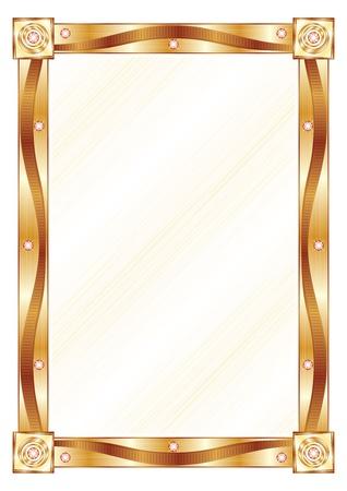 mirror image: Gold frame