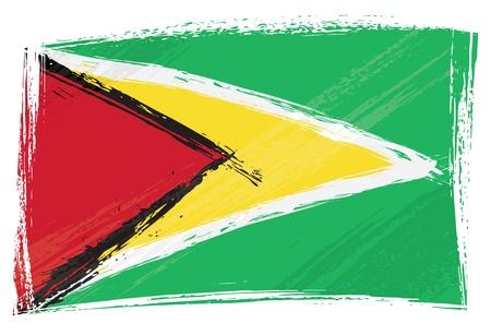 Guyana: Grunge Guyana flag
