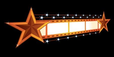 marquee sign: Annuncio di cinema  Vettoriali