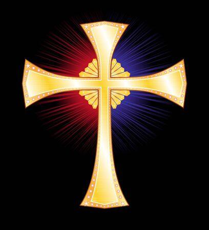 gold cross: Gold cross