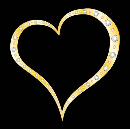 Heart made of gold  Stock Vector - 8476490