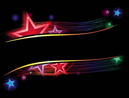 Stars in color  Vector