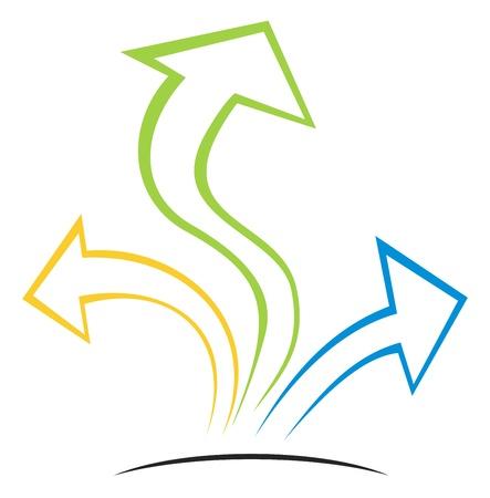 flechas curvas: Las flechas en crecer