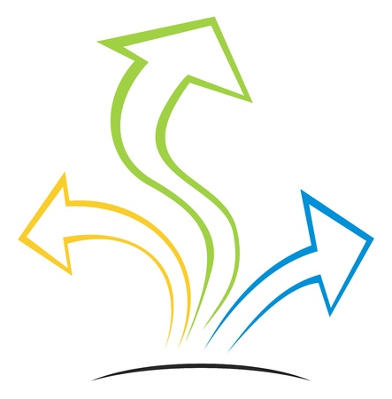 merken: Pijlen op groeien  Stock Illustratie