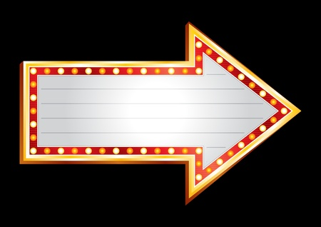 Neon showing direction Vektoros illusztráció