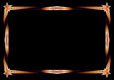 Neon frame  Vector