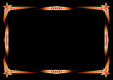 marquee sign: Neon frame