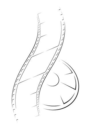hollywood film: Film sketch  Illustration