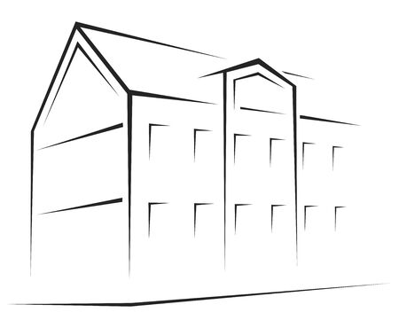 sign simplicity: Building symbol  Illustration