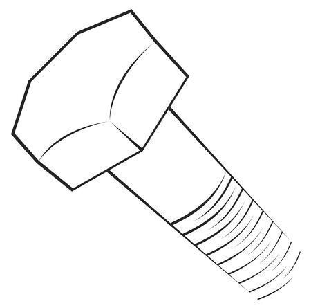 hardware tools: Screw symbol  Illustration