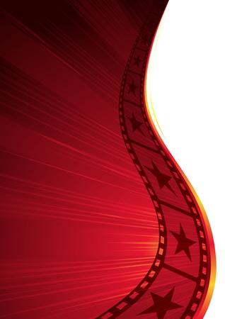 Ontwerp voor hete première of andere gebeurtenis bioscoop Stock Illustratie