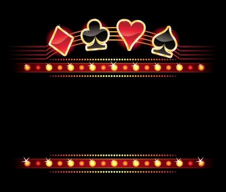 cartas de poker: S�mbolos de la tarjeta de oro en lugar de su texto