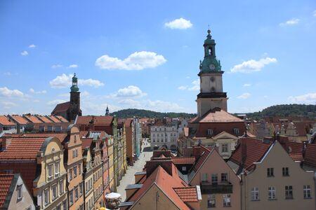 gora: View at town Jelenia Gora in Poland