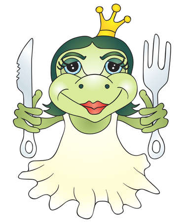 frog queen: Sweet princess frog is ready for dinner