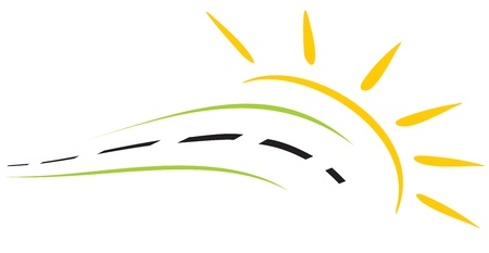 icons logo: Konzept der Stra�e symbol  Illustration