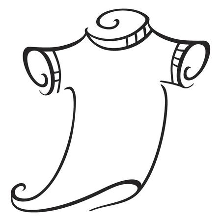 cotton dress: Illustration of t-shirt isolated on white background Illustration