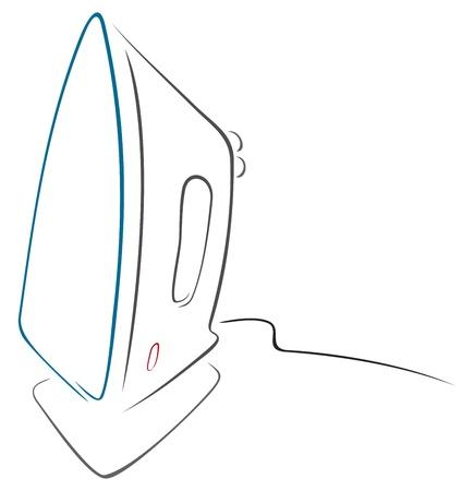 plancha de vapor: Ilustraci�n de hierro aislada sobre fondo blanco