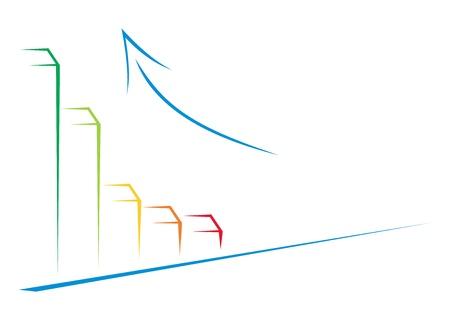 graficos de barras: Ilustraci�n simple de �xito de su negocio