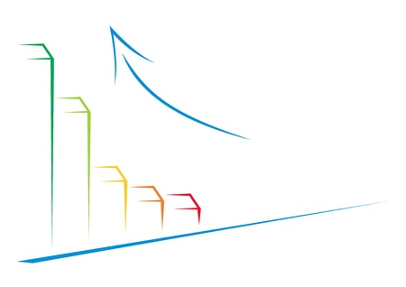Simple illustration showing success of your business Vector