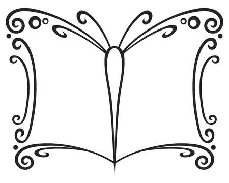 created: Symbol of book created of butterfly wings