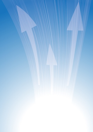 Abstract blue background with arrows and lines Vector