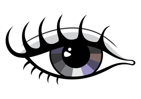 Symbol of beautiful eye isolated on white Vector