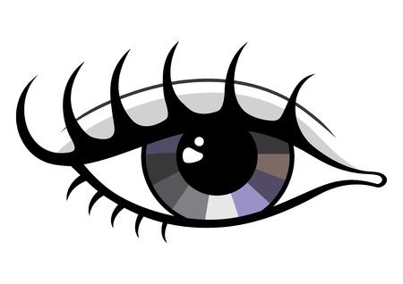 yeux maquill�: Symbole de l'?il belle isol� sur blanc