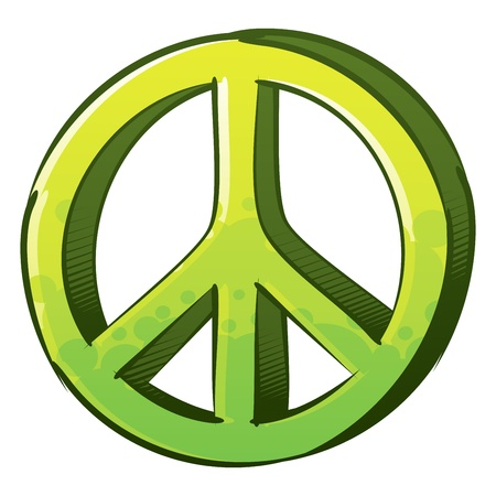 created: Symbol of peace created in sketch and graffiti style