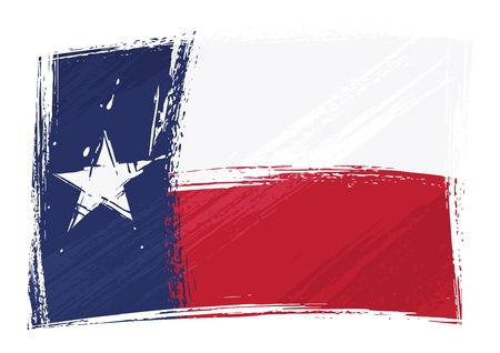 texas state flag: Grunge Texas flag Illustration