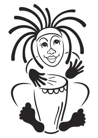 hand beats: Rastafarian drummer