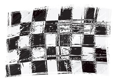 end line: Racing bandera Vectores