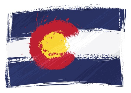 Grunge Colorado flag Vector