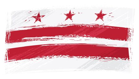 columbia: Grunge Columbia flag Illustration