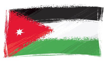 Jordan nationale vlag gemaakt in grunge stijl