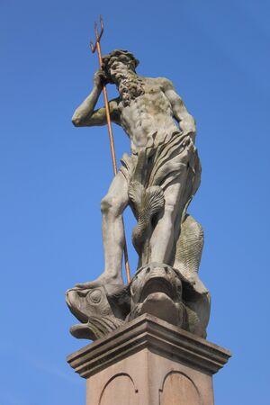 gora: Statue of legendary Neptune in Jelenia Gora