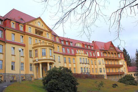 sudeten: Building of Hospital in Kowary at Karkonosze Mountains