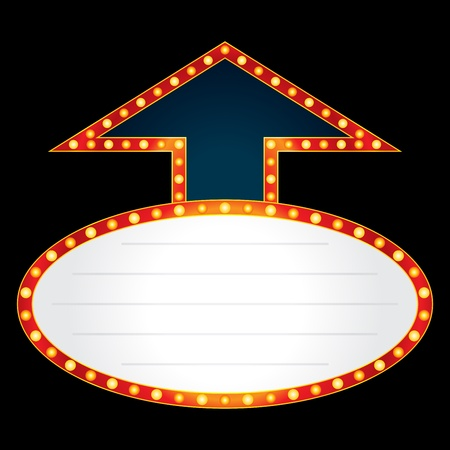 marquee: Arrow made of neon Illustration